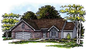 House Plan 73273 | Ranch Style Plan with 1632 Sq Ft, 3 Bedrooms, 2 Bathrooms, 2 Car Garage Elevation