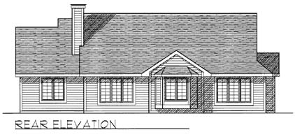 House Plan 73273 | Ranch Style Plan with 1632 Sq Ft, 3 Bedrooms, 2 Bathrooms, 2 Car Garage Rear Elevation