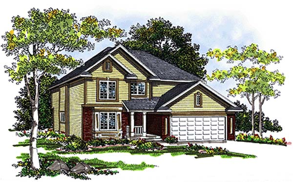 Country Farmhouse House Plan 73276 Elevation