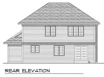 Country Farmhouse House Plan 73276 Rear Elevation