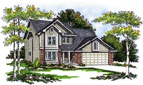 House Plan 73277 | Country Farmhouse Style Plan with 1942 Sq Ft, 3 Bedrooms, 3 Bathrooms, 2 Car Garage Elevation