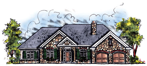 Craftsman House Plan 73278 Elevation