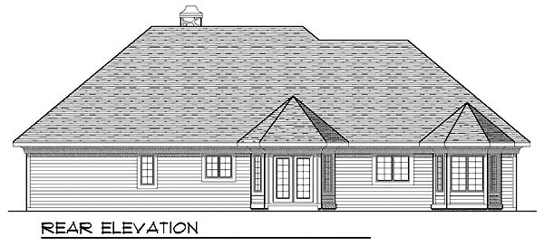 Craftsman House Plan 73278 Rear Elevation