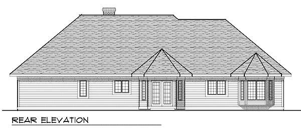 Craftsman House Plan 73279 Rear Elevation