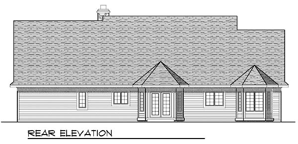 House Plan 73281 | Bungalow Craftsman Style Plan with 1895 Sq Ft, 3 Bedrooms, 3 Bathrooms, 3 Car Garage Rear Elevation