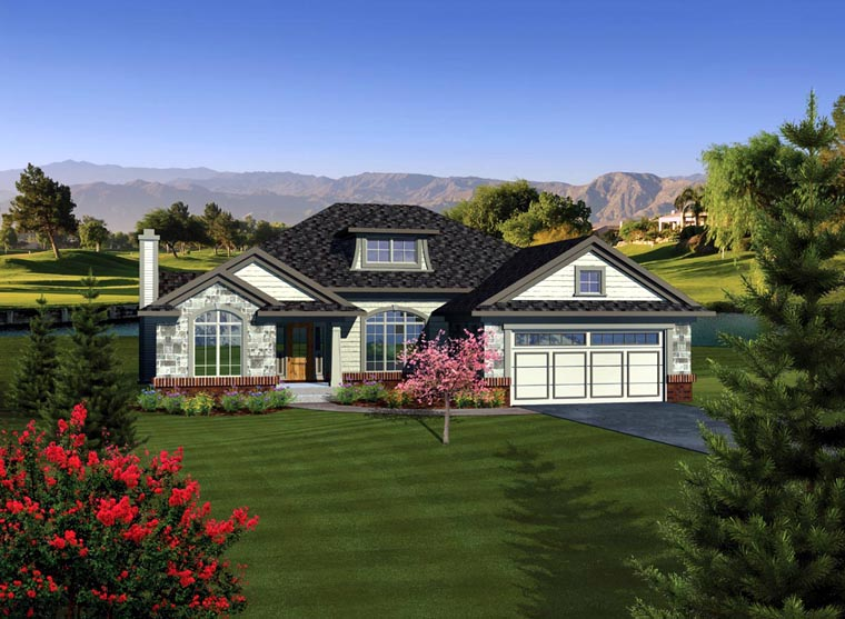 Ranch House Plan 73285 Elevation