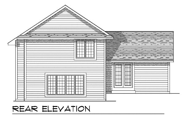Country House Plan 73286 Rear Elevation