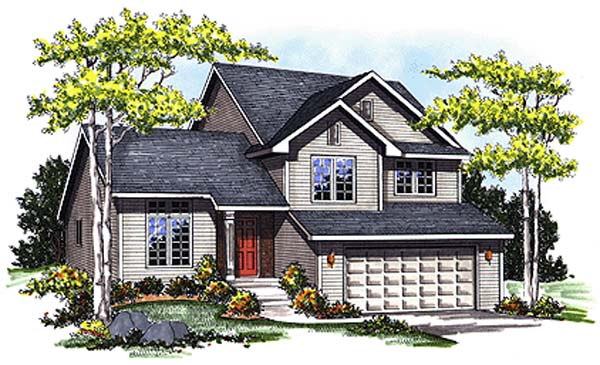 Country House Plan 73287 with 3 Beds, 2 Baths, 2 Car Garage Elevation