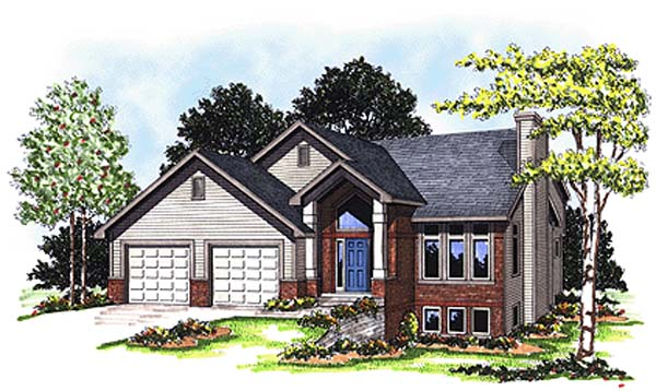 Contemporary Craftsman House Plan 73291 Elevation