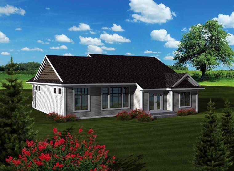 Craftsman Traditional House Plan 73293 Rear Elevation