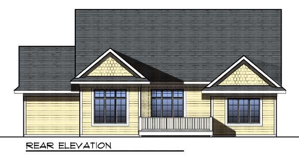 Craftsman House Plan 73295 Rear Elevation