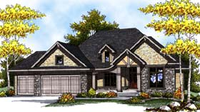 House Plan 73296 | Country Craftsman Style Plan with 2233 Sq Ft, 2 Bedrooms, 2 Bathrooms, 3 Car Garage Elevation