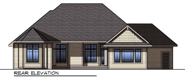 Country Craftsman House Plan 73296 Rear Elevation