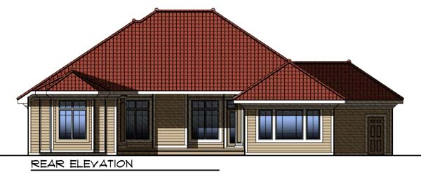 Mediterranean House Plan 73297 Rear Elevation