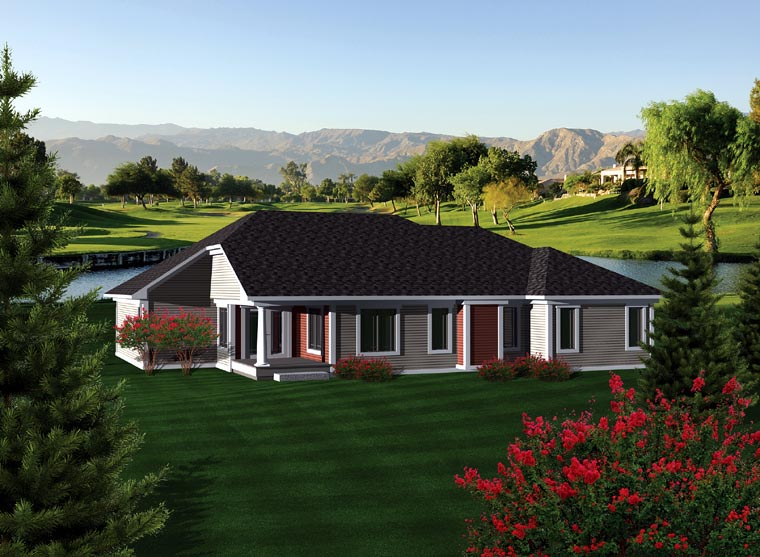Ranch House Plan 73298 Rear Elevation