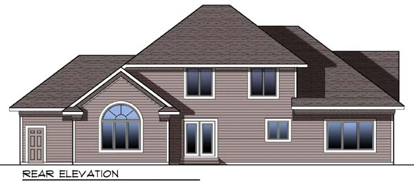 Craftsman Traditional House Plan 73300 Rear Elevation