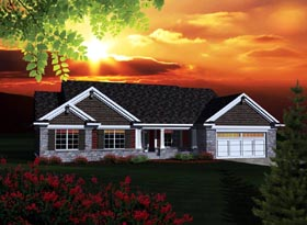 Ranch House Plan 73301 Elevation