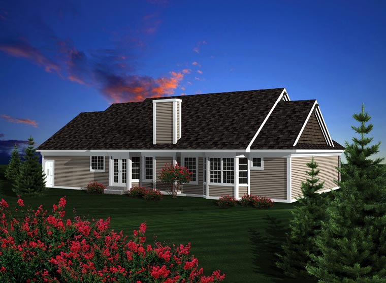 Ranch House Plan 73301 Rear Elevation