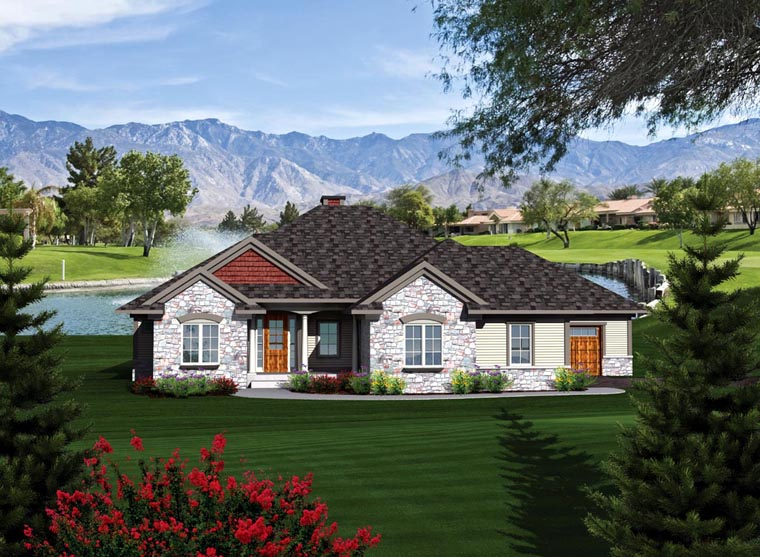 Ranch House Plan 73302 Elevation