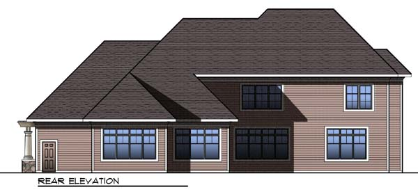 Craftsman Traditional House Plan 73303 Rear Elevation