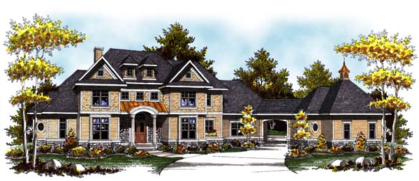 Colonial Craftsman Traditional House Plan 73304 Elevation