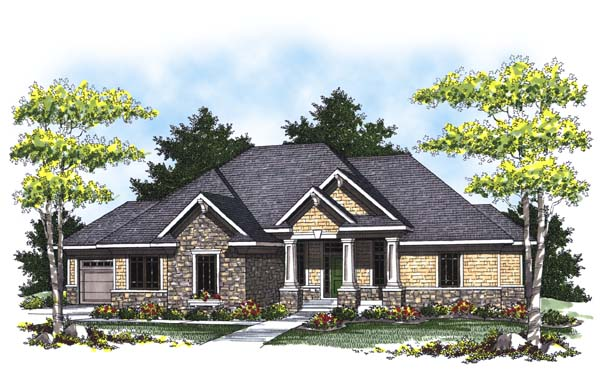 Colonial Craftsman Traditional House Plan 73306 Elevation