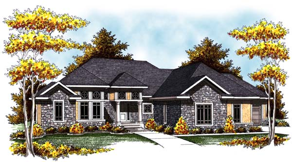 Contemporary Craftsman Ranch Traditional House Plan 73307 Elevation