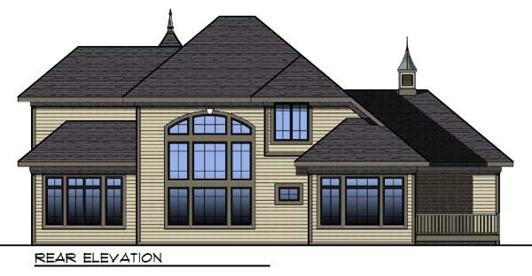 European Tudor Victorian House Plan 73308 Rear Elevation