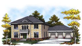 Colonial Traditional House Plan 73309 Elevation