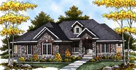 Traditional House Plan 73310 with 3 Beds, 4 Baths, 3 Car Garage Elevation