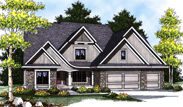 Country Craftsman House Plan 73311 Elevation
