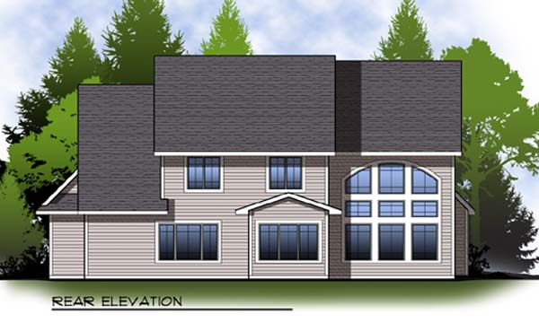 Country Craftsman House Plan 73311 Rear Elevation