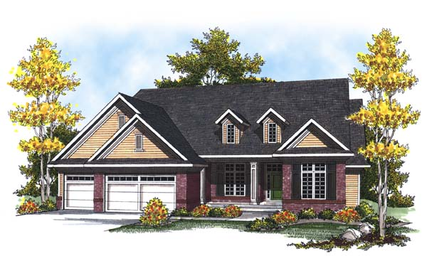 Country Craftsman Traditional House Plan 73314 Elevation