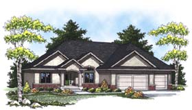 Traditional House Plan 73315 with 3 Beds, 2 Baths, 3 Car Garage Elevation