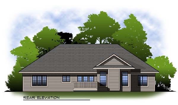 Traditional House Plan 73315 Rear Elevation