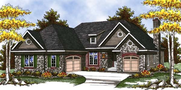 Country Craftsman Ranch House Plan 73317 Elevation