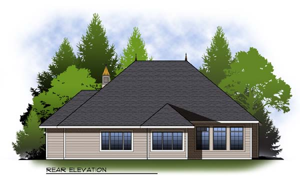 Country House Plan 73318 Rear Elevation