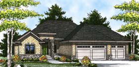House Plan 73319 | Traditional Style House Plan with 1814 Sq Ft, 2 Bed, 2 Bath, 3 Car Garage Elevation