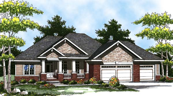 Colonial , Craftsman , Ranch House Plan 73321 with 3 Beds, 2 Baths, 3 Car Garage Elevation