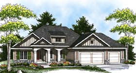 Colonial Craftsman Traditional House Plan 73322 Elevation