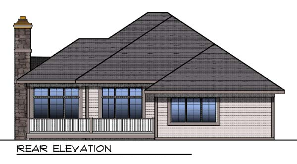 Contemporary Traditional House Plan 73323 Rear Elevation
