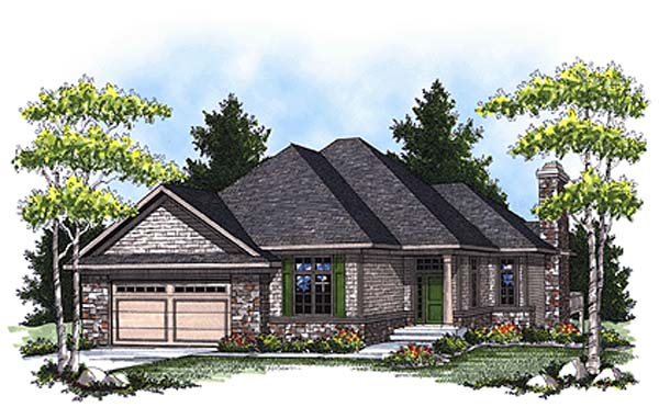 House Plan 73324 | European Traditional Style Plan with 2653 Sq Ft, 3 Bedrooms, 4 Bathrooms, 3 Car Garage Elevation