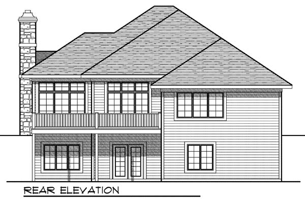 House Plan 73324 | European Traditional Style Plan with 2653 Sq Ft, 3 Bedrooms, 4 Bathrooms, 3 Car Garage Rear Elevation