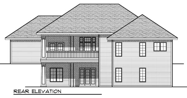 Traditional House Plan 73325 Rear Elevation