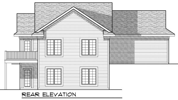 Colonial Traditional House Plan 73326 Rear Elevation