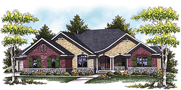 Country Ranch House Plan 73327 Elevation