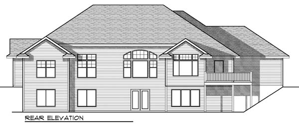 Country Ranch House Plan 73327 Rear Elevation