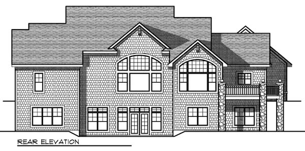 Cape Cod Country House Plan 73328 Rear Elevation
