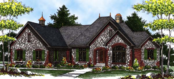 European, Tudor House Plan 73329 with 4 Beds, 4 Baths, 3 Car Garage Elevation