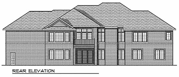 Traditional House Plan 73330 Rear Elevation